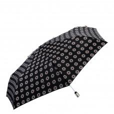 Зонт женский автомат Clima M&P (54/7) черный/ цветы (5883.7669)