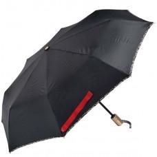 Зонт женский автомат Clima M&P (54/8) черный с лентой (5885.3.7669)