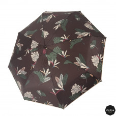 Зонт женский автомат Clima M&P (54/8) коричневый / цветы (5887.0514)