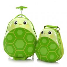 Набор Чемодан на 2-х колесах + Рюкзак Heys Travel Tots 13,8 л Turtle (HE13030-3197-00)