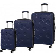 Набор чемоданов на 4-х колесах IT Luggage Hexa Blue Depth (IT16-2387-08-3N-S118)