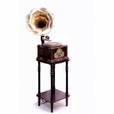 Грамофон Daklin Париж з тумбою шоколадний горіх (RP-013C)