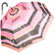 Зонт-трость Outline/striped женский автомат (63/8) розовый с рисунком (16236.0220)