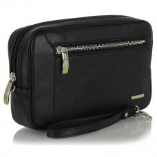 Клатч кожаный Adpel Acciaio Touch черный (2555N)
