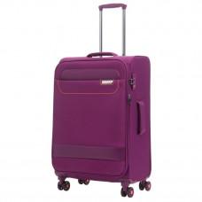 Чемодан March Tourer на 4 колесах 70-83 л фиолетовый с оранжевой фурнитурой (2602/22)