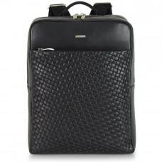 Рюкзак кожаный Adpel Acciaio Versus черный (2831N)