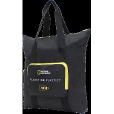 Сумка для покупок National Geographic Foldable (шопер) складная черная (N14405.06)