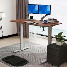 Стол с ручной регулировкой высоты Loctek HT101 Silver Grey