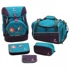 Школьный набор Deuter OneTwoSet - Sneaker Bag цвет 3044 petrol bird