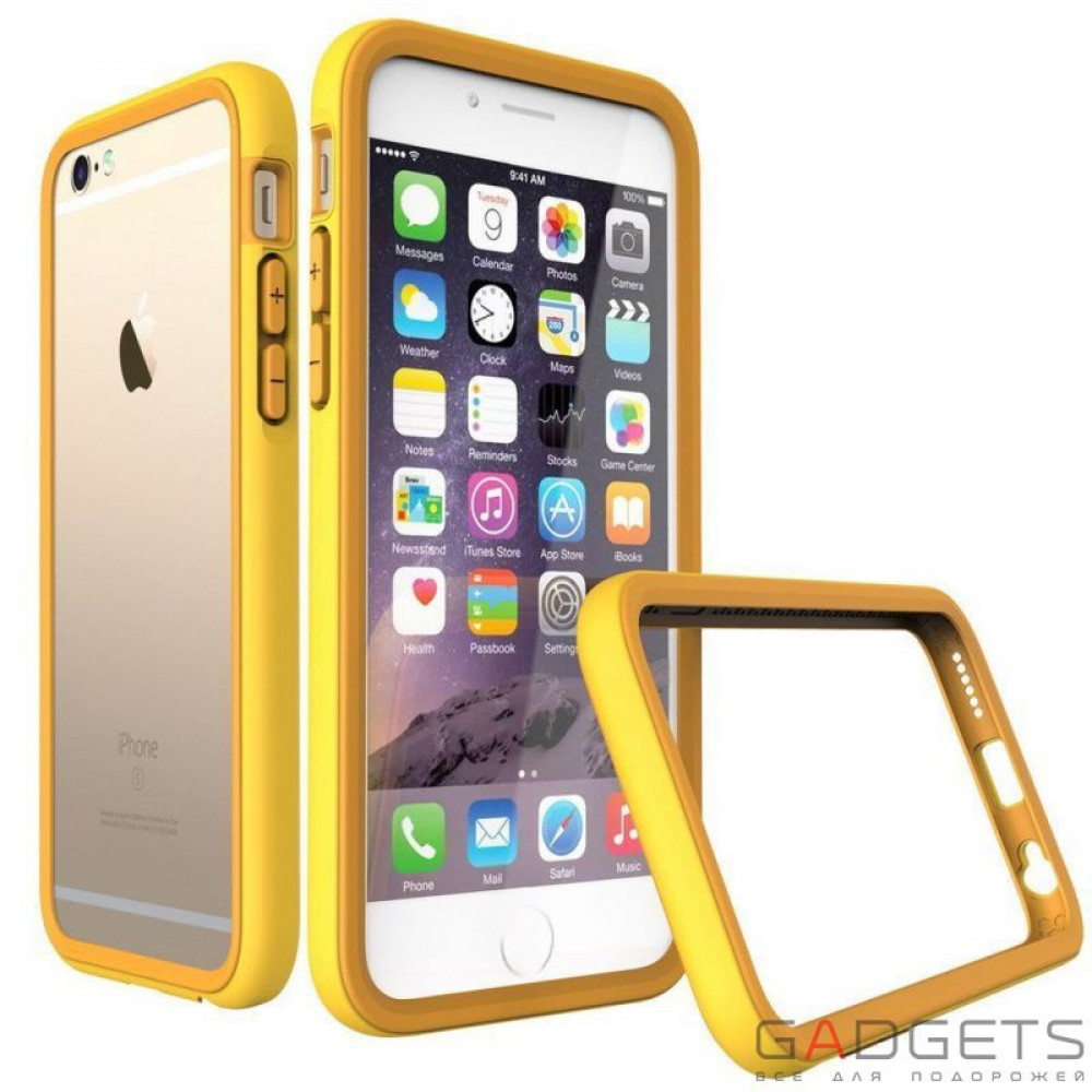 Фото Бампер Rhino Shield Crash Guard Yellow для iPhone 6 / 6s
