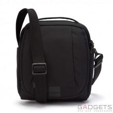 Сумка через плечо, вертикальная, антивор Pacsafe Metrosafe LS200, 6 степеней защиты, черная