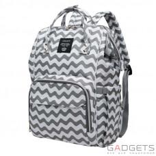 Рюкзак для мамы Lequeen Pink Grey