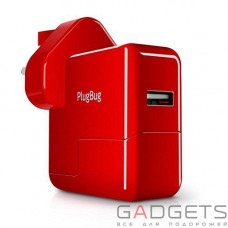 Сетевое зарядное устройство Twelvesouth PlugBug World White/Red (2.1 A) (TWS-12-1211)