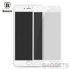 Защитная пленка Baseus 0.23mm Soft edge Anti-peeping Glass Film для iPhone 7 White