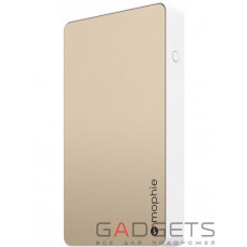 Додатковий акумулятор Mophie Powerstation Dual-USB Gold 6 000 mAh (3561-PWRSTION-6.2K-GLD)