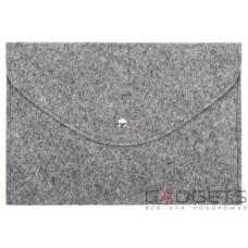 Темный войлочный чехол-конверт Gmakin для Macbook 12 горизонтальный (GM61-12)