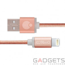 Кабель COTEetCI M30i Lightning Cable 2m Rose Gold