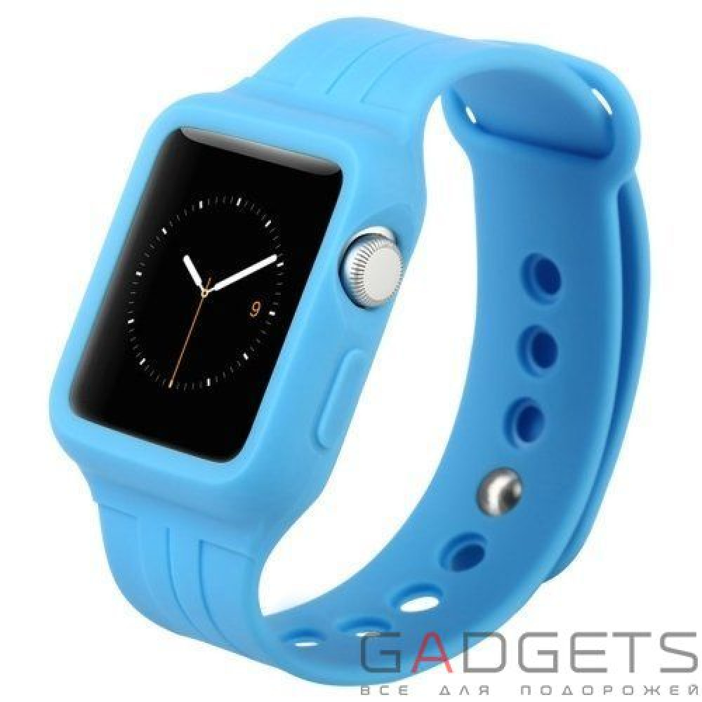 Фото Ремешок Baseus Fresh-Color Plus Series Sports Watchband для Apple watch 38mm Blue