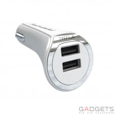 Зарядний пристрій iWALK Dolphin Duo 3.4 car charger White