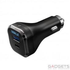 Автомобильное зарядное устройство iWalk Dolphin PD Car Charger Black (CCD009P)