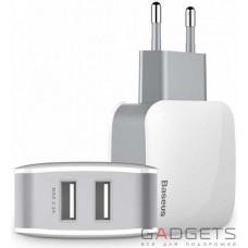 Сетевое зарядное устройство Baseus Letour Dual USB Charger (CN) White + Gray, шт