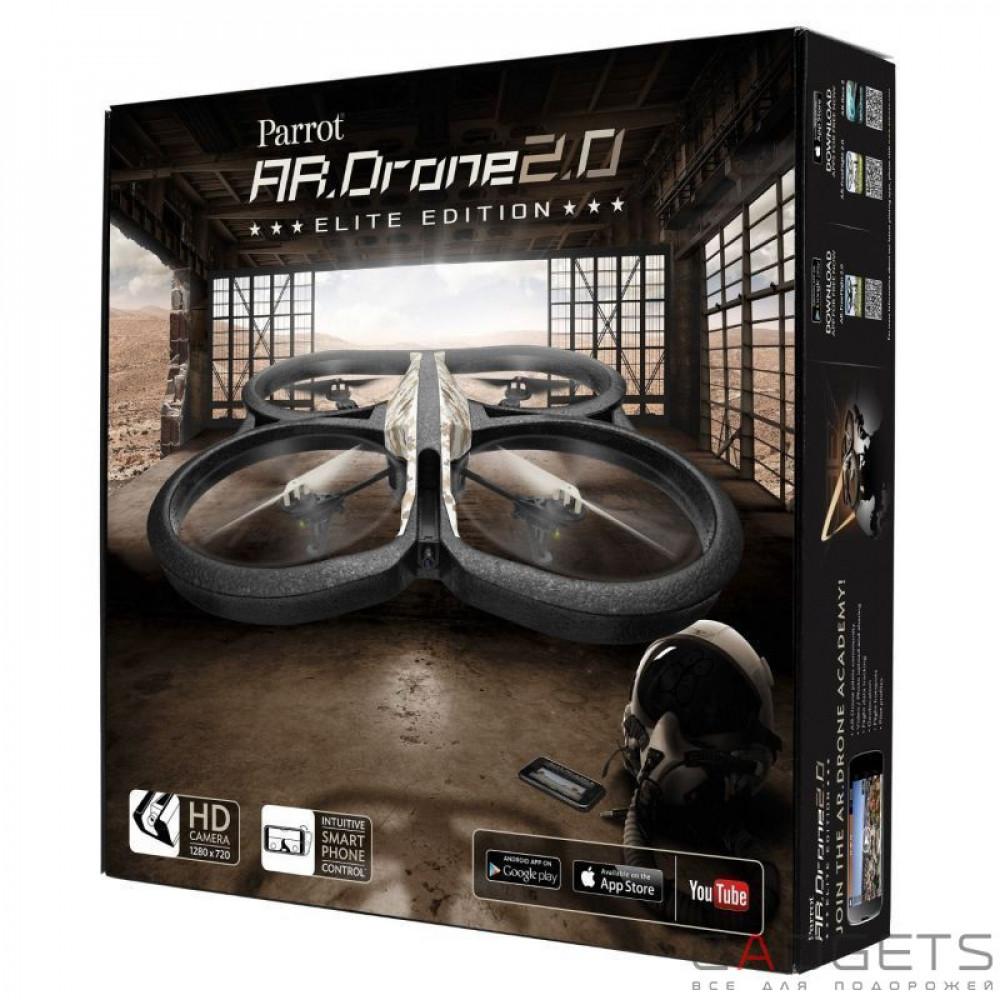 Фото Квадрокоптер Parrot AR. Drone 2.0 Elite Edition Sand (PF721820BI) Офіційна гарантія