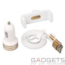 Автомобильный держатель Baseus Uiversal Car Accessories Set White