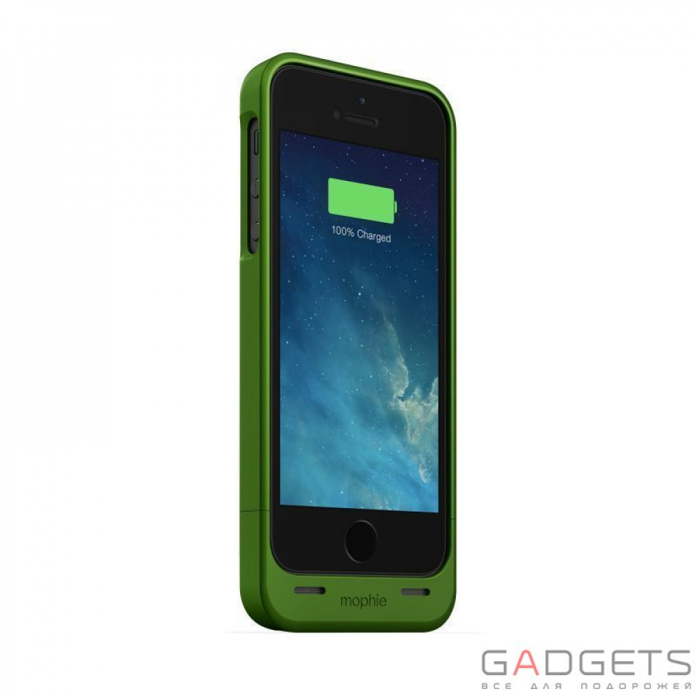 Фото Mophie Juice Pack Helium Green 1500 mAh for iPhone 5/5S (2541-JPH-IP5-GRN-I)