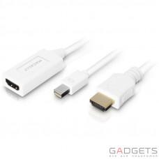 Кабель для відео Macally 6ft Mini DisplayPort to HDMI Combo Cable (MD-HD6C-4K)