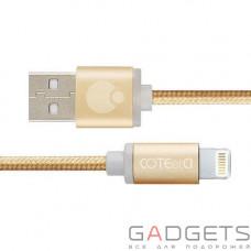 Кабель COTEetCI M30i Lightning Cable 2m Gold