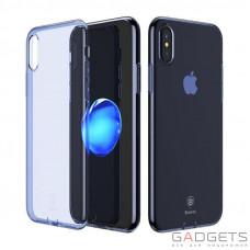 Чехол Baseus Simple Series Case Transparent Blue для iPhone X (ARAPIPH8-B03)