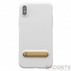 Чехол Baseus Happy Watching Supporting Case White для iPhone X (WIAPIPH8-LS02)