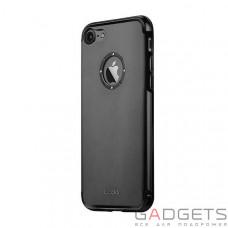 Чохол  iBacks Aluminum Case with Diamond Ring iPhone 7 Black