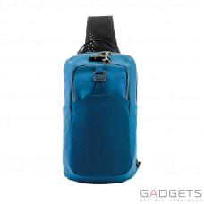 Сумка через плечо антивор Pacsafe Venturesafe X, 5 степеней защиты, синяя