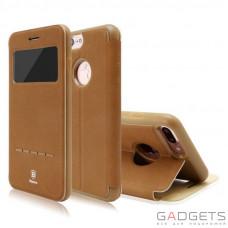 Чехол Baseus Simple Series Leather Case iPhone 7 Plus Brown