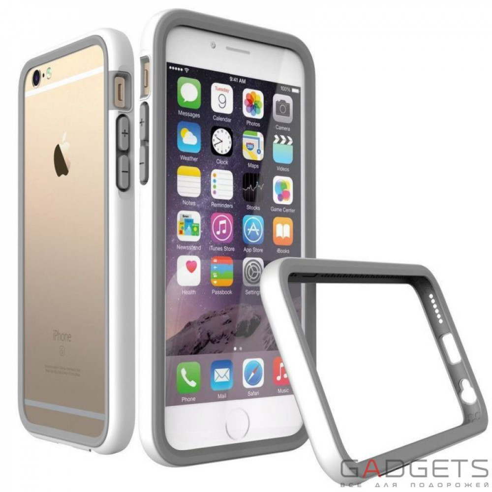 Фото Бампер Rhino Shield Crash Guard White для iPhone 6 Plus / 6s Plus