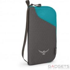 Кошелек Osprey Document Zip Wallet Tropic Teal O/S, бирюзовый