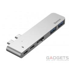 Адаптер Baseus Thunderbolt C+ Dual Type-C to USB3.0HDMIType-C Female HUB Converter Deep Space Grey (CAHUB-B0G)