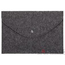 Темный войлочный чехол-конверт Gmakin для Macbook 12 горизонтальный (GM60-12)