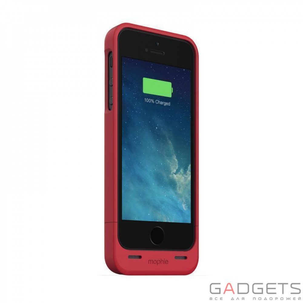 Фото Mophie Juice Pack Helium Red +1500 mAh for iPhone 5 / 5S (+2377-JPH-IP5-RED-I)