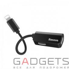 Переходник Baseus iP Male to iP+iP Female Adapter L37 Black