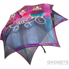 Парасолька тростина жіноча Perletti Chic Фіолетовий коти (21213;4100)