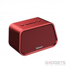 Портативная колонка Baseus Encok Multi-functional wireless speaker E02 Aluminum alloy+U disk/TF card/AUX Red (NGE02-09)