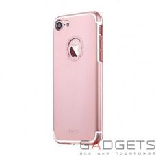 Чохол  iBacks Aluminum Case with Diamond Ring iPhone 7 Plus Rose Gold