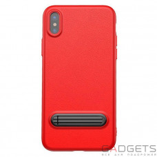 Чехол Baseus Happy Watching Supporting Case Red для iPhone X (WIAPIPH8-LS09)