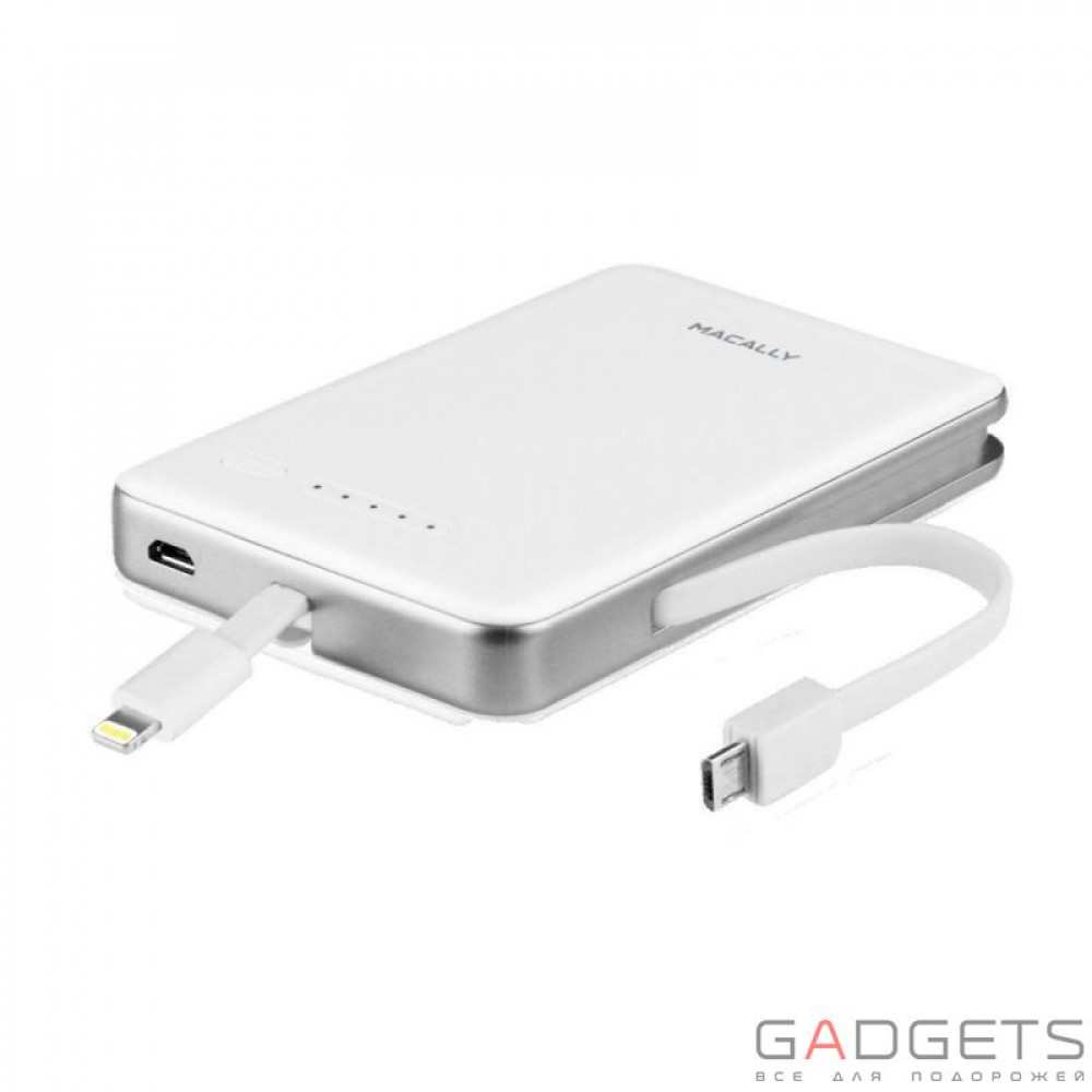 Фото Внешний аккумулятор Macally 5200mAh Portable Battery Charger with Lightning Connector (MBP52L)
