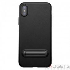 Чехол Baseus Happy Watching Supporting Case Black для iPhone X (WIAPIPH8-LS01)