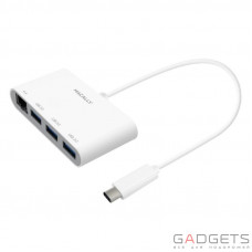 Адаптер Macally USB-C Multiport Adapter Series white (UCHUB3GB)