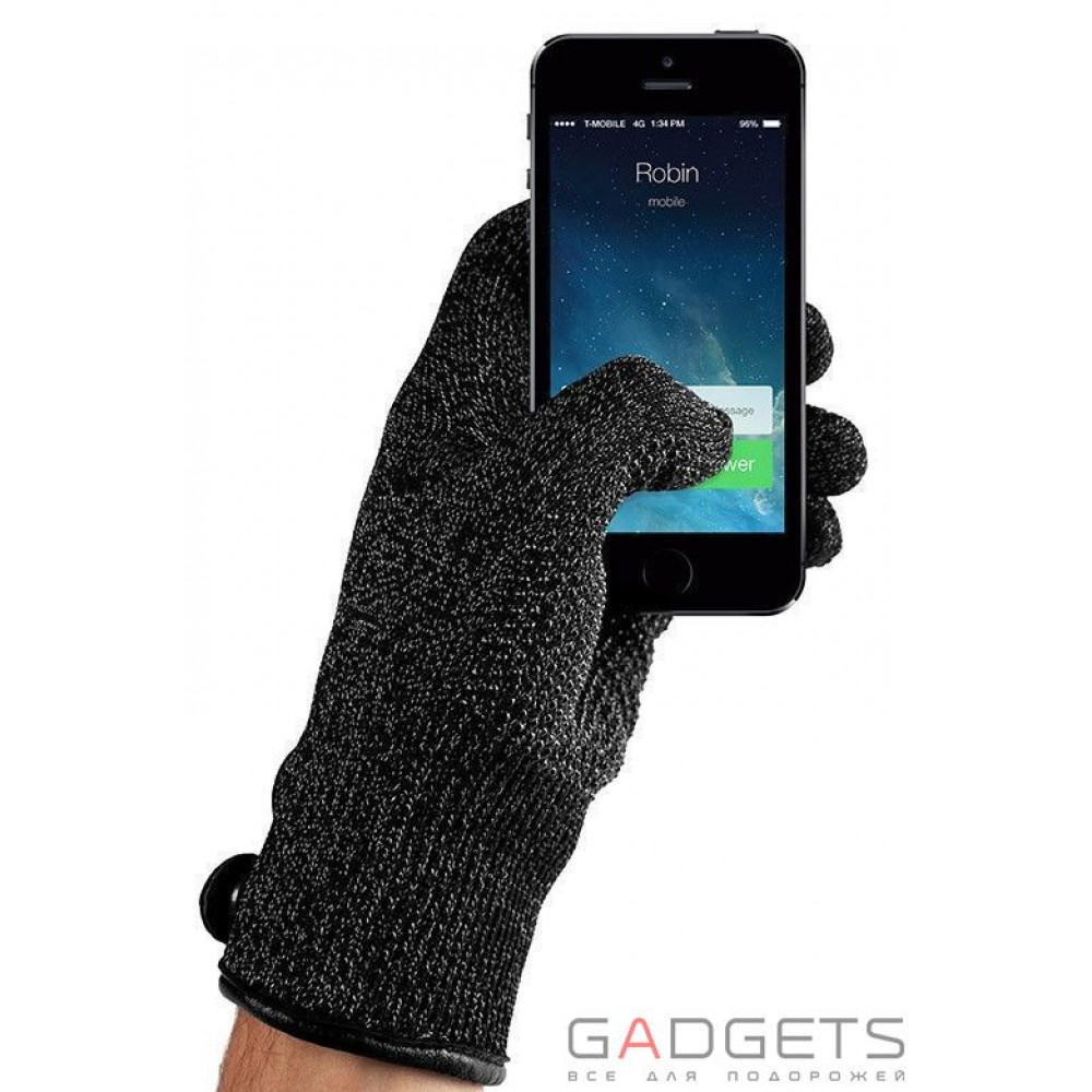 Фото Сенсорні рукавички Mujjo Double-Layered Touchscreen Gloves Black XL