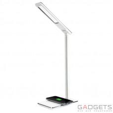 Лампа с беспроводной QI зарядкой для смартфонов Baseus Ingert белая